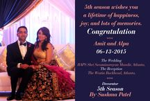 Congratulation amit and alpa ;) / 5th season wishes you a lifetime of happiness, joy, and lots of memories. Congratulation!!