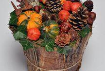 Podzimní dekorace / venkovní , dytová , věnce , truklíky , atd ....
