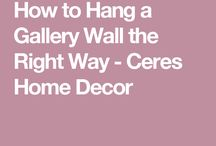 How to hang photos/paintings