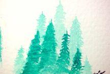 Practice of watercolor