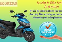 Doorstep bike service in Gwalior / Exclusive two wheeler servicing at your doorstep with pick up and drop service. #DreamBikeService #GetAwroofers #DoorstepInGwalior