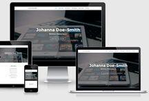 Moderne Designs für den Internetauftritt / Viele verschiedene Designvorlagen für ihr Portfolio, ihre Website und vieles mehr.