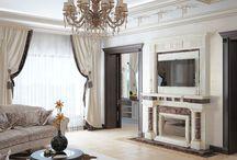 Дизайн интерьера дома в неоклассическом стиле / Пожелание заказчика: дизайн интерьера дома в стиле неоклассика должен быть таким, чтобы жилые помещения были теплыми и комфортными.