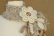 Bufanda flores tejidas