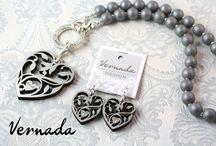VERNADA Design -korut / Näitä koruja myytävänä verkkokaupassa www.vernada-puoti.fi Handmade Vernada Design jewellery.