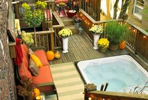 Outdoor living spaces / Decks layouts and ideas