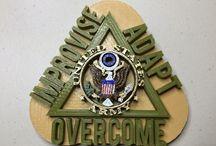 Army, symbol, improvise, adapt, overcome