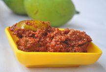 Pickles / Beef achar, Prawn Pickle, Avakkai, Amla pickle, Green chilli pickle