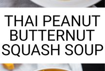 Thai butter nut squash soup