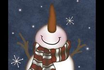 Santa & Snowmen