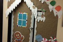 christmas decorations doors school