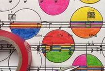 Sheet Music Art and More / Artwork created on sheet music, dictionary pages, maps, and other vintage materials!