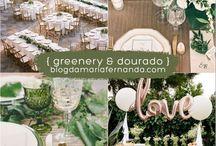 decoração greenery