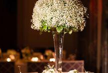 flores decoração jantar