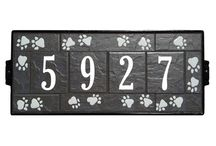 Designer Series / Designer Series - All artwork and numbers on this sign are hand glazed and kiln fired on pure porcelain tiles. Each sign is a unique and original piece of art unto itself.