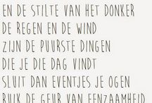 Poetry/Poëzie / Beautiful poems in English and Dutch
