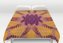 "Duvet Covers | Society6 / Webgrrl's designed Doona covers for Queen (88"" x 88') and King (104"" x 88"") size beds. Ultra soft microfiber * Hidden zipper closure * Cold machine wash * Hand sewn * made by Society6"