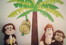 Πάρτι με θέμα μαϊμουδάκια (monkeys and bananas birthday party)