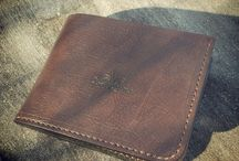 some of my leather works / Handmade, handsewn leather goods