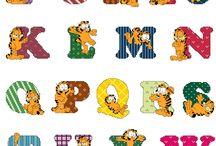 Garfield alphabet