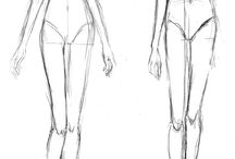 Plain fashion sketches