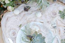 table settings, flowers etc