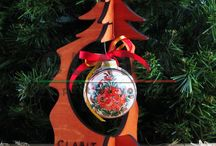 CLABIT Handmade Christmas ceramic baubles and wooden trees_Made in Italy