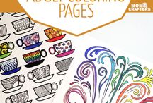 BEST Free Adult Coloring Books & Pages / I LOVE coloring pages! I have a lot of books but love getting free printable online. Check out these. IF you want to be a contributor, please leave a comment on a post and I'll add you. First you must follow my boards. Thanks! http://www.susieqtpiescafe.com