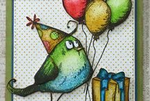 Crazy birds Tim Holtz