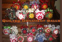 Quilten( folded star)  Balls /hearts/ patchwork / quilten en patchwork