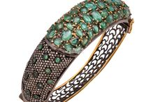 Bangles / Buy .925 Sterling Silver Diamond Bangles, Precious Semi Precious Gemstone Bangles Wholesale at SAR Gems in different stones including emerald, polki, turquoise, pearl, garnet stones and more.