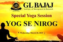 GLBIMR is organizing a Special Yoga Session by renowned Yoga Expert Ramneesh Vats on Wednesday