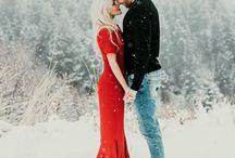 Snowy Engagement Session Outfit Ideas