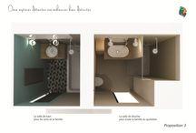 Un double espace détente : une salle de bain et une salle d'eau côte à côte / Une salle de bain et une salle d'eau rénovées pour un intérieur plus moderne et plus pratique.