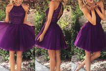 robe bal violette