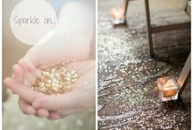 Wedding Sparkle / A little bit of glitter and sparkles make magical weddings..