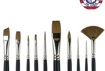 Humane Art 10pc Artist Paintbrush Set / Look & Feel Like Natural Sable Without Costing A Wild Animals Life! - http://www.amazon.com/10pc-Synthetic-Sable-Artist-Brush/dp/B011I5JD3K