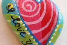 heart and love painted rocks