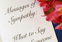 Sympathy/Birthday messages