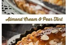 French almond cream and pear tart