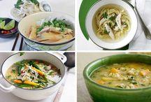 Healthy chicken soups