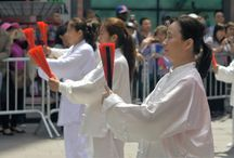 Taichi at Times Square, New York City / Henan Tourism had an amazing Taichi event in the center of Times Square on May 14, 2016.
