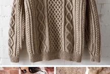 Knitting pullovers, jampers, sweaters
