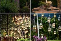Romantic garden lighting