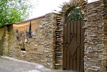 Gate with Stone Fence