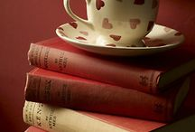 book and coffee  / book, coffee