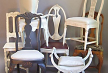 Pull up a Chair! / Antique Swedish dining chairs, armchairs, klismos chairs, and more.
