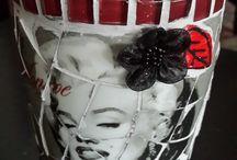 My mosaic projects, Handmade by Sandi G / Everything up-cycled by Sandi G. For orders contact muzzys.creations@gmail.com
