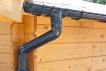 Plastic guttering | Anthracite / Plastic guttering (PVC) provides the best protection from water damage for your shed/ summer house or log cabin. Now you can immediately drain or collect rainwater in, for example, a water butt. Our plastic guttering is available in the gutter types GD16 and Extra100.