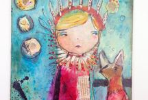 love juliette crane ART / When i discovered Juliette's artwork i found a part of mySelf. Connecting to Tribal Innocents. Her expression feels Whimsical and deep at the same time. Connecting to the HeART.